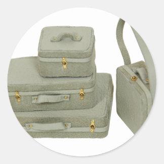 Suitcases030609 copy round sticker