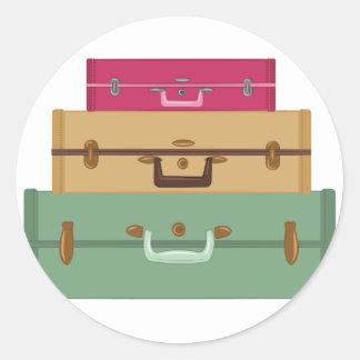 Suitcases Classic Round Sticker