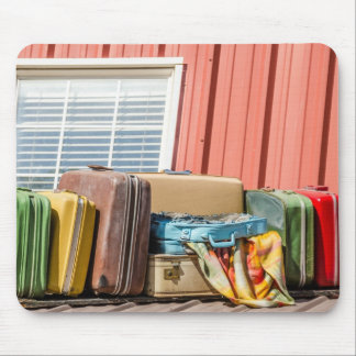 Suitcases - Travel - College - Luggage Mouse Pad