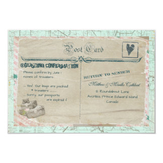Suitcases Travel Party RSVP Card