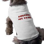 Suivez mon exemple manteaux pour chien