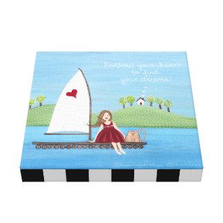 Suivez votre coeur - art nautique de la navigation toiles