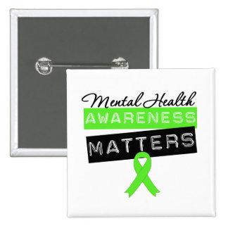Sujets de conscience de santé mentale badges