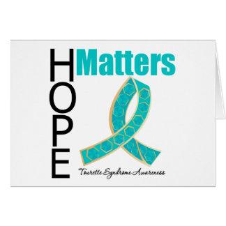 Sujets d'espoir de syndrome de Tourette Carte De Vœux