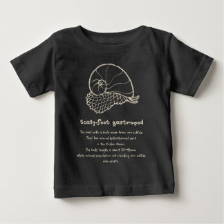 < sukerihutsuto (beige) > Scaly-foot gastropod Baby T-Shirt