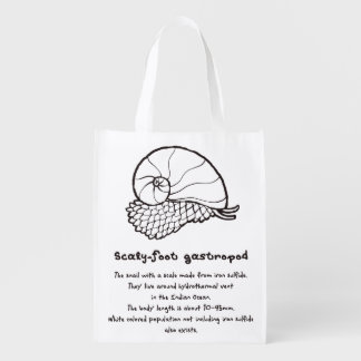 < sukerihutsuto (to burn, brown) > Scaly-foot Reusable Grocery Bag