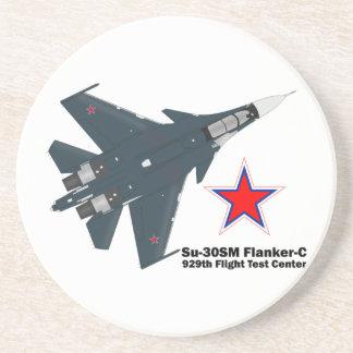 Sukhoi Su-30SM Flanker-C VKS Beverage Coasters