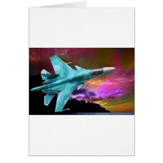 Sukhoi Su-47 S-37 Berkut Supersonic Jet Fighter Card