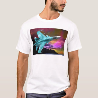 Sukhoi Su-47 (S-37) Berkut Supersonic Jet Fighter T-Shirt