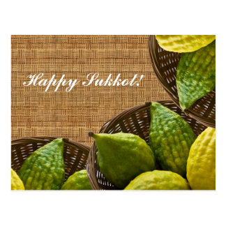 Sukkot filled with happiness! postcard