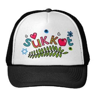 Sukkot Jewish Holiday Text Trucker Hat