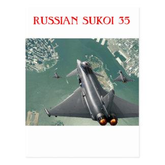 SUKOI 35 RUSSIAN JET FIGHTER POSTCARD