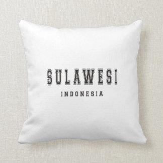Sulawesi Indonesia Throw Pillow