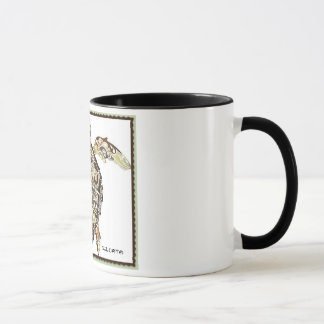 """SULCATA"" 11 oz. RINGER TURTLE COFFEE MUG"