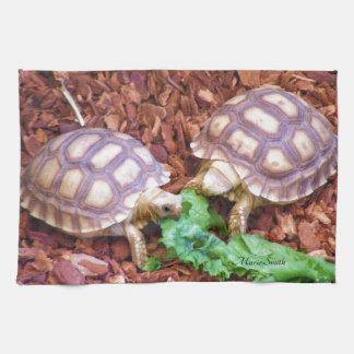 Sulcata Tortoise Hatchlings Kitchen Towel