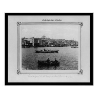 Suleymaniye Mosque in Istanbul 1885 Poster