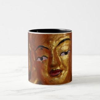 Sulk Buddha 2 Two-Tone Coffee Mug
