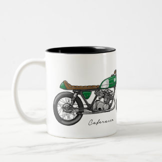 Sulk with bar racecar driver in green Two-Tone coffee mug
