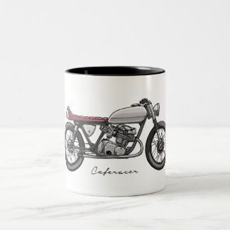 Sulk with bar racecar driver in grey Two-Tone coffee mug