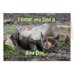 Sulking Rhino Greeting Card