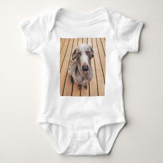 Sullen Weimaraner Baby Bodysuit