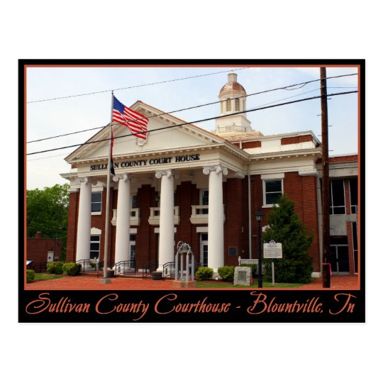 Sullivan County Courthouse - Blountville, TN Postcard