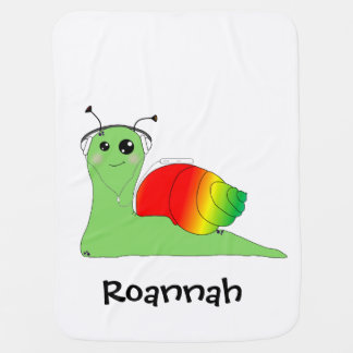 Sullivan la Snail loves music: Reggae Swaddle Blankets