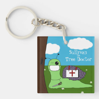 Sullivan the Tree Doctor Double-Sided Square Acrylic Keychain