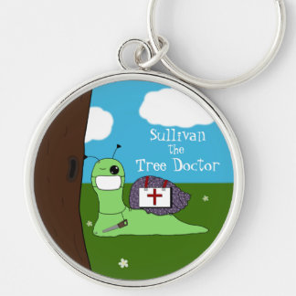 Sullivan the Tree Doctor Silver-Colored Round Keychain