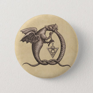 Sulphur and Mercury Dragons 2 Inch Round Button