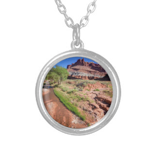 Sulphur Creek Flows Through Capitol Reef Silver Plated Necklace