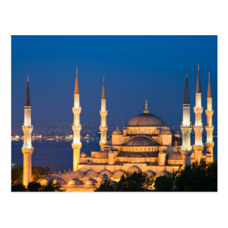 Sultan Ahmed Mosque during twilight Postcard