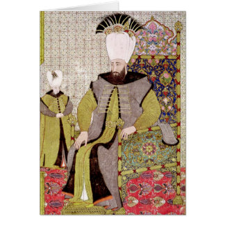 Sultan Ahmet III  and the heir to the throne Card