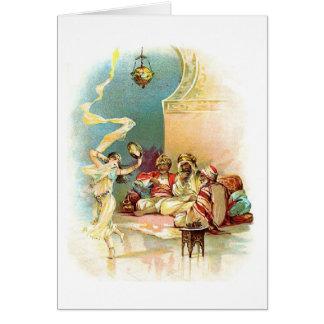 Sultan & Harem Dancer, Card