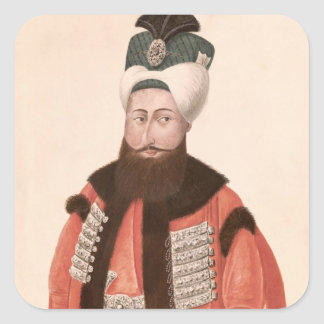 Sultan Selim III  18th-19th century Square Sticker