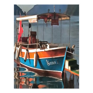 Sultan Taxi Boat Marmaris Letterhead Template