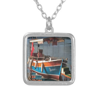 Sultan Taxi Boat Marmaris Silver Plated Necklace