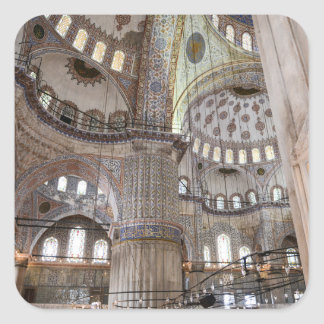 Sultanahmet Mosque in Istanbul Turkey Square Sticker