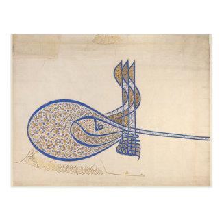 Sultan's Signature Vintage Postcard