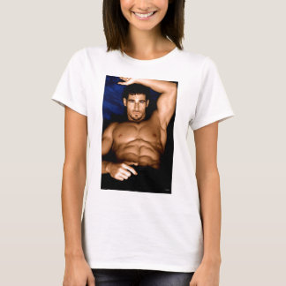 Sultry Man on Bed - original painting T-Shirt