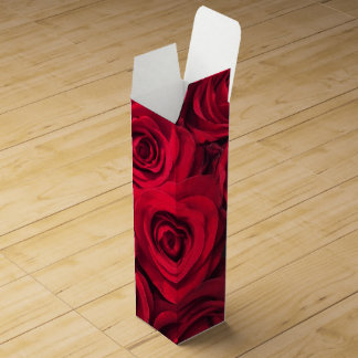 Sultry Red Roses Wine Box