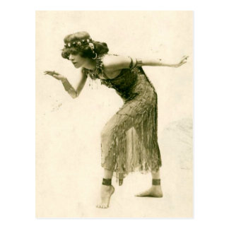 Sultry Vintage Flapper Dancer La Sylphe Postcard
