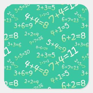 Sum in the slate - green Model Square Sticker