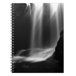 Sum Waterfall in Vintgar Gorge Spiral Notebook