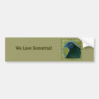 Sumatra Rooster Framed Car Bumper Sticker