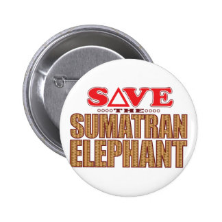 Sumatran Elephant Save 2 Inch Round Button