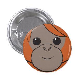 Sumatran Orangutan Face Button