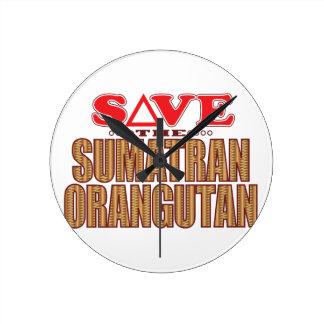 Sumatran Orangutan Save Clock