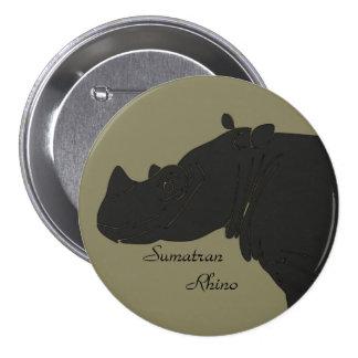 Sumatran Rhino Button