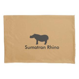Sumatran Rhino Pillow Case Pillowcase